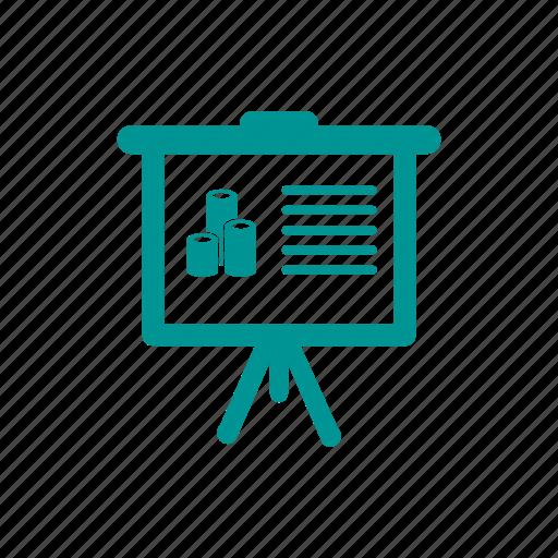 analysis, blackboard, board, business, education, info-graphic, presentation icon