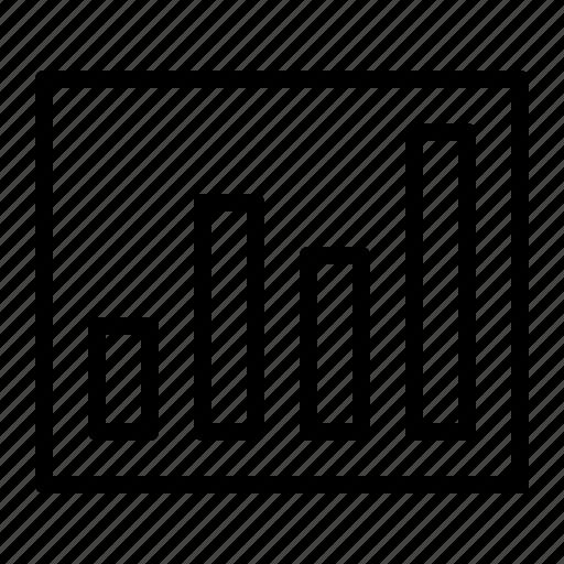 analytics, bar, chart, growth, ios, presentation, statistics icon