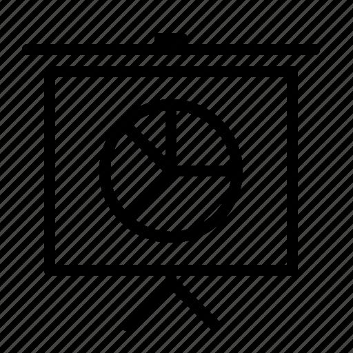 board, chart, flip, ios, pie, presentation, statistics icon