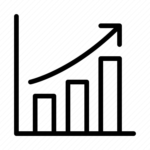 analysis, bar, chart, graph, increase, ios, statistics icon