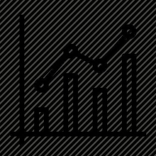 analytics, bar, chart, graph, ios, node, statistics icon