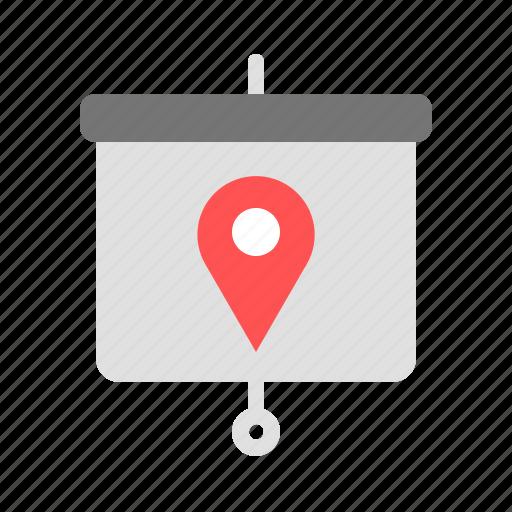 location, pin, presentation, target icon