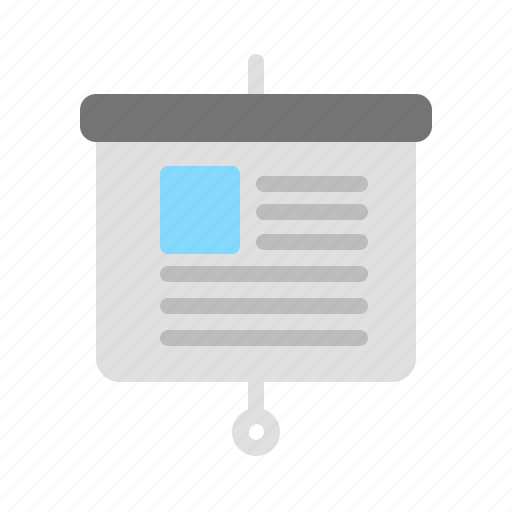 picture, presentation, proposal, text icon