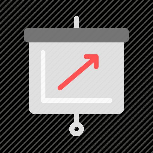 graph, presentation, trend, up icon
