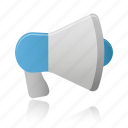 advertising, loudspeaker, megaphone, speaker icon