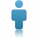 blue, person, profile, user icon
