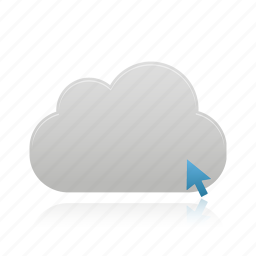 click, cloud, upload icon