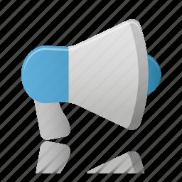 advertising, loudspeaker, megaphone, speaker icon