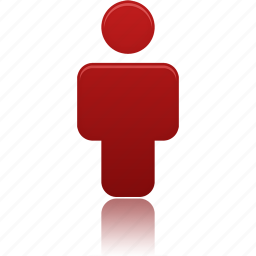 account, human, person, profile, red, user, users icon