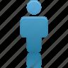 blue, person, profile, user icon