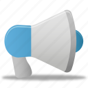 loudspeaker, megaphone, promoting, sound, speaker icon