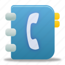 address book, addressbook, contacts, phonebook icon