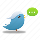 bird, social media, tweet, twitter icon