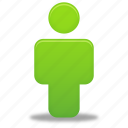 account, green, human, male, man, people, person, profile, user icon