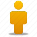 account, human, male, man, orange, person, profile, user icon