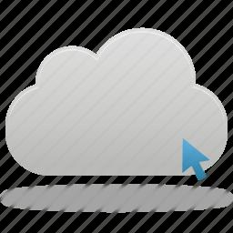 click, cloud icon