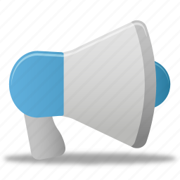 loudspeaker, megaphone, promoting, sound, speaker icon