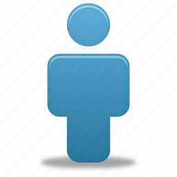 account, blue, human, male, man, people, person, profile, user icon