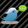 bird, social media, tweet, twitter icon