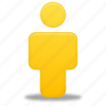 account, male, man, people, person, profile, user, yellow icon