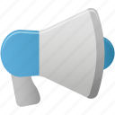 advertising, megaphone, sound, speaker icon