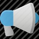 advertising, megaphone, sound, speaker icon