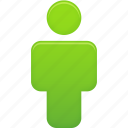 account, green, human, male, man, person, profile, user icon