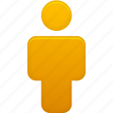 account, human, male, man, orange, people, person, profile, user icon