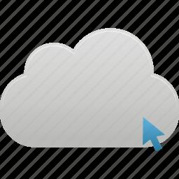 click, cloud, upload icon