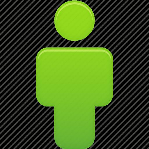 account, green, human, male, man, person, profile, user icon