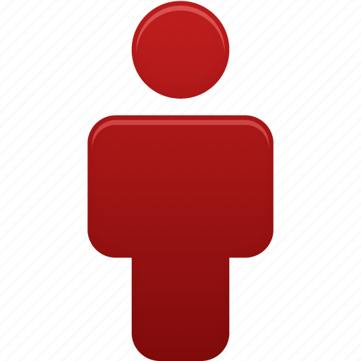 account, male, man, people, person, profile, red, user icon