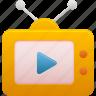 movie, multimedia, television, tv, video icon