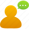 bubble, chat, comment, communication, message, talk icon