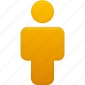 account, human, male, man, orange, people, person, profile, user icon