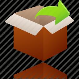 Box, gift, open, present, shopping, uncompress icon | Icon ...