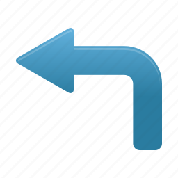 arrow, arrows, back, direction, left, turn icon