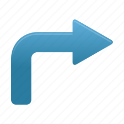arrow, arrows, direction, forward, pointer, right, turn icon