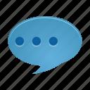 comment, communication, message, talk, chat, conversation
