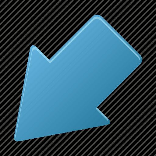 arrow, arrows, direction, downleft icon