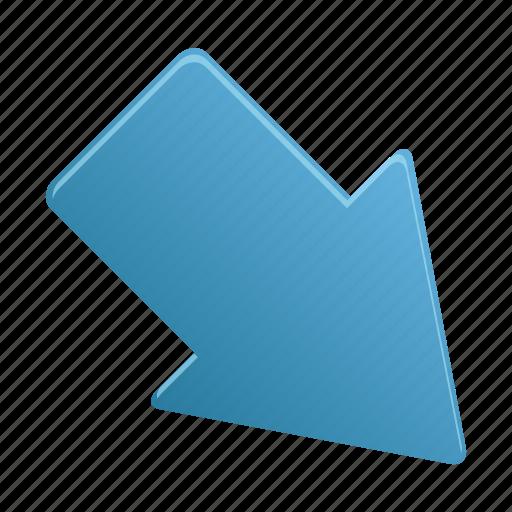 arrow, arrows, direction, downright icon