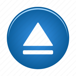 audio, eject, media, multimedia icon