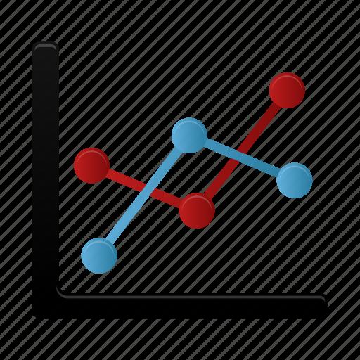 analysis, analytics, chart, graph, line, report, statistics icon
