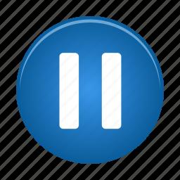 audio, media, multimedia, pause, player, video icon