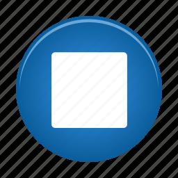 audio, media, multimedia, player, stop, video icon