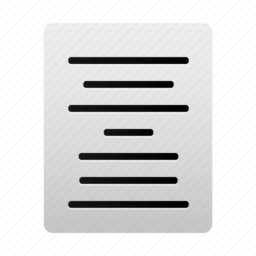 align, center, document, file, page, paper, text icon