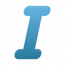 itailc, letter, text icon