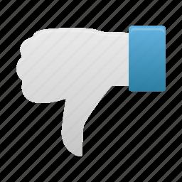 down, hand, thumb icon