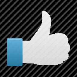 good, hand, thumb, up icon