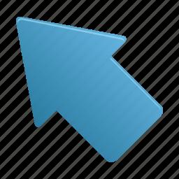 arrow, arrows, direction, upleft icon