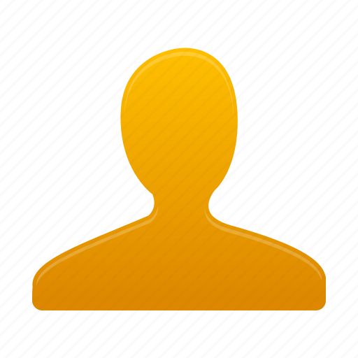 account, man, people, person, profile, user, yellow icon